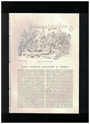 1892 Early Political Caricature In America by Joseph B. Bishop
