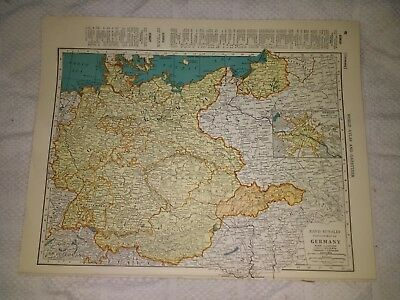1942 Map of Germany - Slovakia as Protectorate - Map of Spain & Portugal On Back