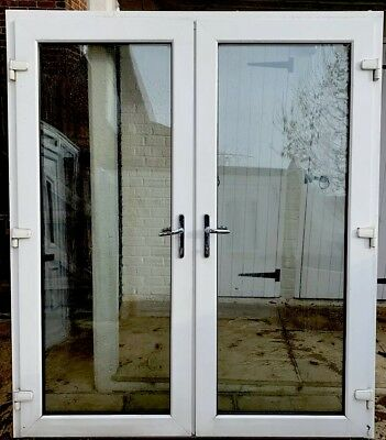 White Upvc French Doors Patio Door Back Porch Front Side