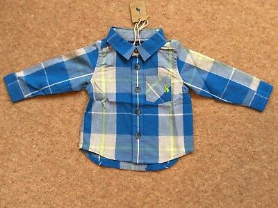 Joules Boys Lachlan Shirt BNWT Ages 3-6, 6-9 And 9-12 Months available