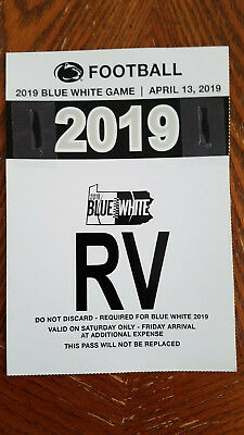 RV Parking Pass - 2019 Penn State Blue / White Game - PSU 4/13/19