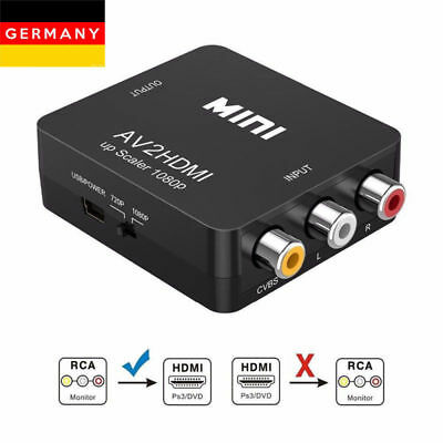 FHD 1080P Composite AV RCA to HDMI Video Converter Adapter UP Scaler AV2HDMI