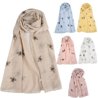 New Women's Buzzing Manchester Bee Pattern One Size 6 Colours Cosy Scarf