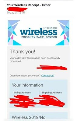Wireless Festival 2019 Friday Ticket ONLY!!