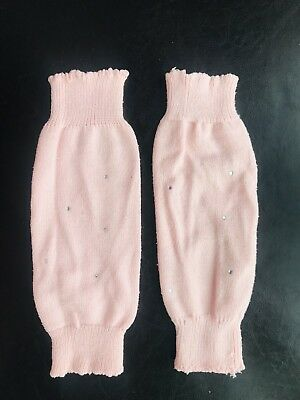 B-13 Toddler Girl/'s Pink and White Chevron Leg Warmers