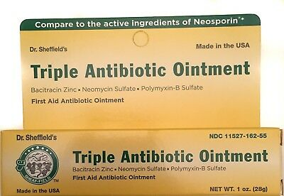 TRIPLE ANTIBIOTIC OINTMENT 1oz Compare to Neosporin 11/2019 Dr  Sheffield's