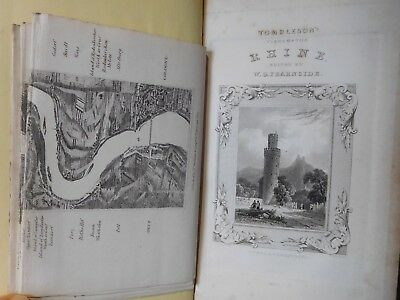 1832 Tombleson's Views Of The Rhine - Large Panoramic Map & 68 Plates - Germany