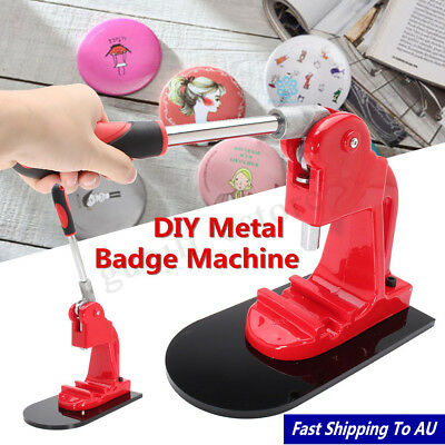 2-1/4'' (58mm) Red DIY Metal Badge Machine Button Round Badge Maker Fast Ship