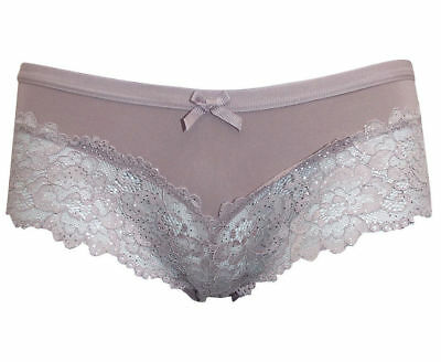 M/&S COLLECTION Fruit Lace High Leg Knickers Size 12