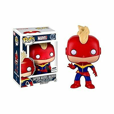 Funko Pop Vinyl Captain Marvel Masked Exclusive Bobblehead Figure 154
