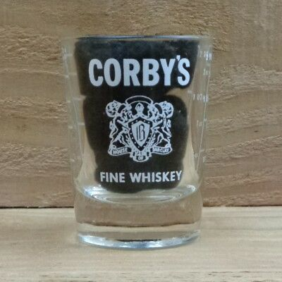 "CORBY'S - FINE WHISKEY - CANADA ""Shot Glass - OVERSIZED"" orig."