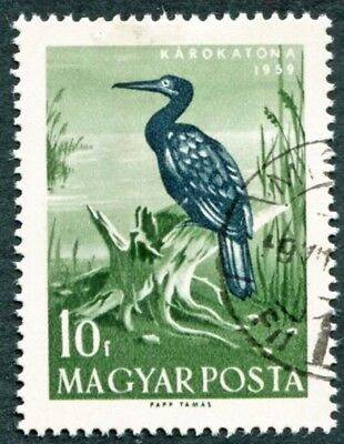 HUNGARY 1959 10fi SG1574 used NG Water Birds Great Cormorant #W31