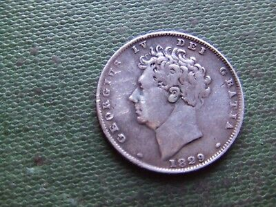 George Iv.   1829, Silver Sixpence.   Scarce.   Nice Condition.