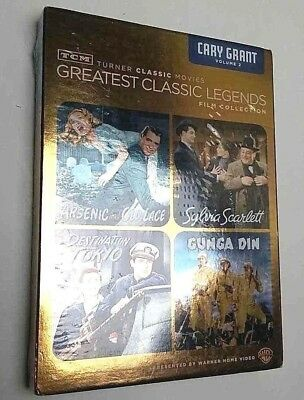 NEW ! TCM Greatest Classic Legends Film Collection Cary Grant Vol 2 DVD 4 MOVIE