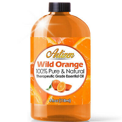 Artizen Wild Orange Essential Oil (100% PURE & NATURAL - UNDILUTED) - 4oz