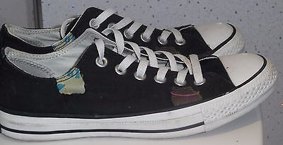new style ae186 008dc Mens Womens Converse Trainers Size Uk 6 Eu 39 Black Design Low Plimsolls Vgc