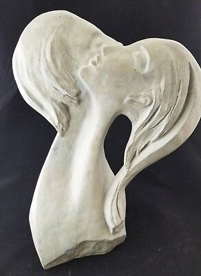 "1980 Austin Productions SIGNED David Fisher ""FACES OF LOVE"" Statue Art Sculpture"