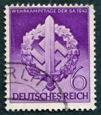 GERMANY Third Reich 1942 6pf SG808 NG Armed Sports Day of Sturm Abteilung #W28