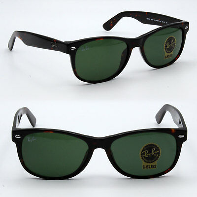Ray-Ban new wayfarer sunglasses for men classic green lens / brown rb2132  large