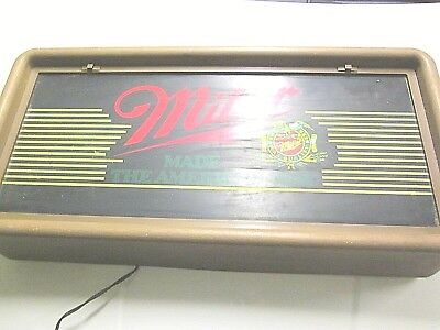 1984 Miller Beer Bar Man Cave Sign Decor Miller Made The American Way Logo