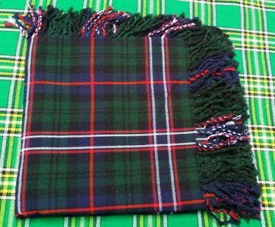 "Kilt Fly Plaid Purled Fringe Acrylic Wool 48"" x48""Scottish National  Tartan"