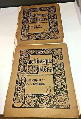 1896, PICTURESQUE ULSTER by De Lisser, City of KINGSTON,NY in 2 Illustrated Vols