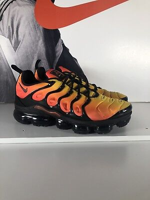 08f51dca66b Nike Air Vapormax Plus Sunset Black Total Orange Max Tuned 924453-006 M  Size 11