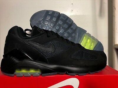 a5009a97ce Mens Nike Air Max 180 Size 8.5 Black Volt Neon Supreme Off Qs Aq6104 001