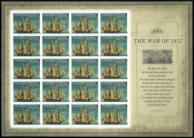 US 4703a Imperf War of 1812 USS Constitution full sheet of 20 VF NH MNH