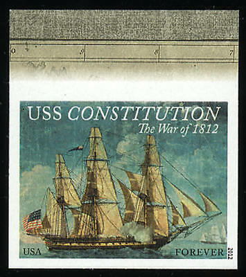 US 4703a Imperf War of 1812 USS Constitution Single Top Margin VF NH MNH