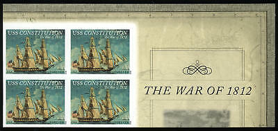 US 4703a Imperf War of 1812 USS Constitution UR corner block of 4 VF NH MNH