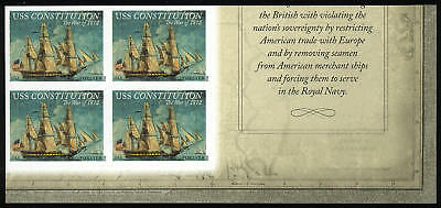 US 4703a Imperf War of 1812 USS Constitution LR corner block of 4 VF NH MNH