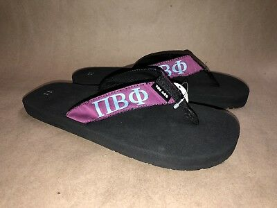 6736c2d3647838 Toe Goz Women s Size 11 NEW PI BETA PHI Sandals Greek Sorority Flip Flop NS1