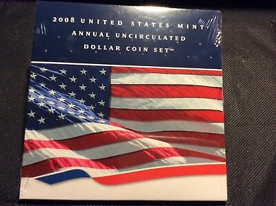 2008 US Mint Annual Uncirculated Dollar Coin Set *MINT SEALED*