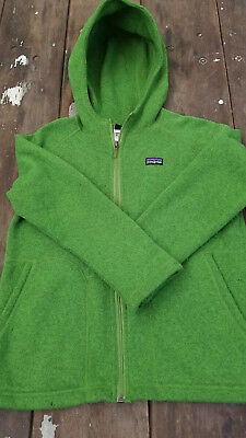 0f72a7aa7 Patagonia Boys Better Sweater Fleece Jacket Hoodie Green Size M 10-Pre owned