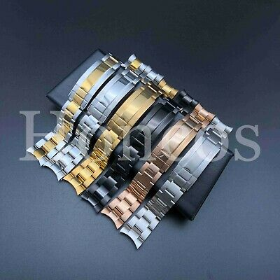 21MM Watch Band Bracelet Shiny Stilver Gold Sea-Dweller And Deepsea Fits Rolex