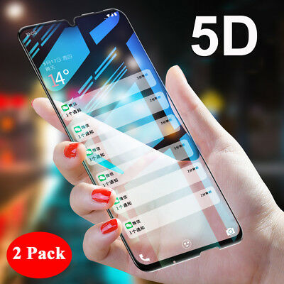 2Pcs 5D Curved Tempered Glass For Huawei P Smart 2019 Screen Protector Film