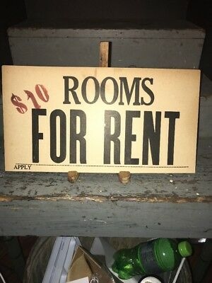 Vintage 1940s Apartment For Rent Sign York Pa 1999 Picclick