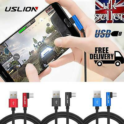 Fast Charging Cable USB C 90 Degree Elbow L SHAPE Type-C for Samsung S8 S9 Plus