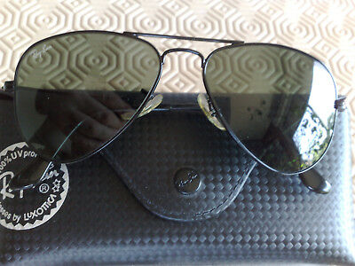 86d781128729f7 Très jolies Ray ban Aviator classic noires RB3044 taille XS 52  14 verres  G15