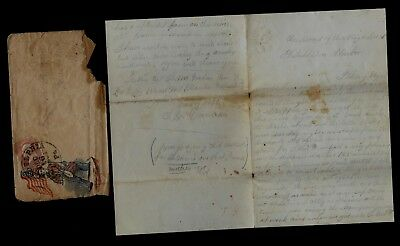 50th Massachusetts Infantry CIVIL WAR LETTER - On Board Ship, Saw Ironclad WOW !