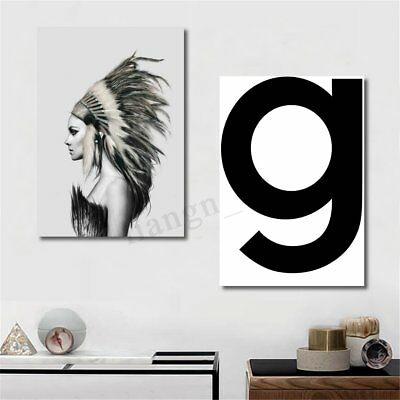 50x70cm Indian Girl Abstract Canvas Art Print Painting Home Wall Decor