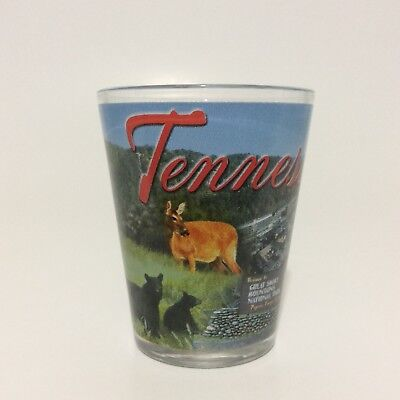 Shot Glass Great Smoky Mountains Tennessee  National Park  Souvenir 2.25""