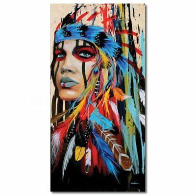 100x50cm Indian Woman Abstract Canvas Art Print Oil Painting Wall Home Decor 1