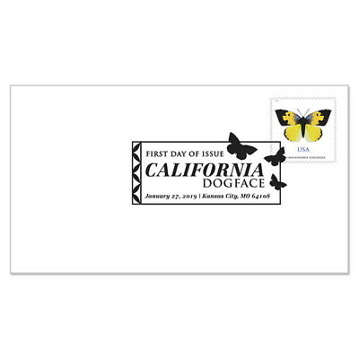 USPS New California Dogface Butterfuly First Day Cover