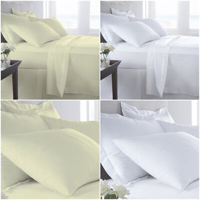 Hotel Quality T400 Egyptian Cotton Duvet Quilt Cover White Single Double King
