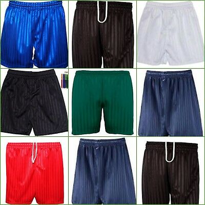 INDX-Clothing PE Shorts Boys Girls Children Shadow Stripe School Gym Sports Football Games
