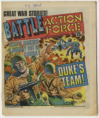 Battle Action Force 15th Nov 1986 (very high grade) Johnny Red, Charley's War