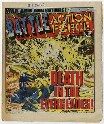 Battle Action Force 4th October 1986 (very high grade) Johnny Red, Charley's War