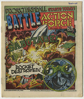 Battle Action Force 30th Aug 1986 (very high grade) Johnny Red, Charley's War